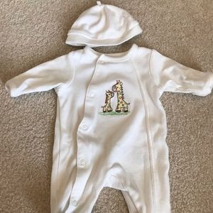 Little Me Preemie One-Piece Footie with Hat